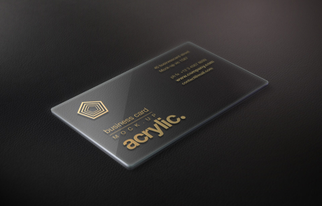 Visitenkarten transparent kunststoff