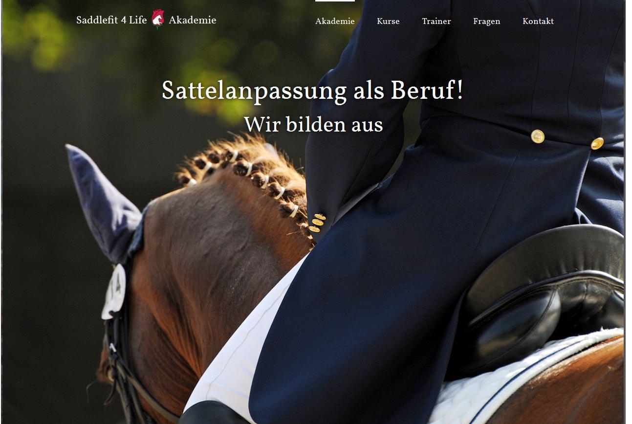 Saddlefit 4 Life Akademie – Responsive Relaunch