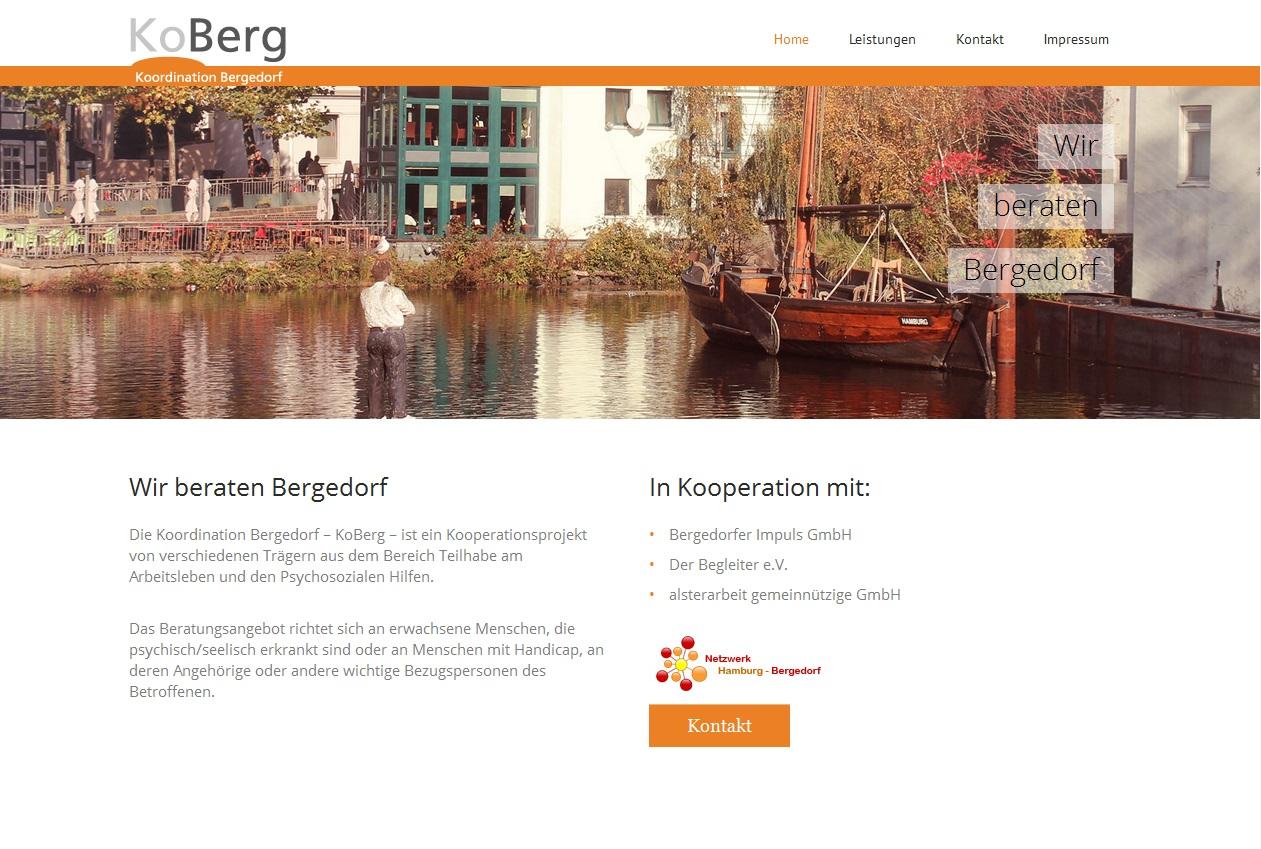 KoBerg – Responsive Infoseite