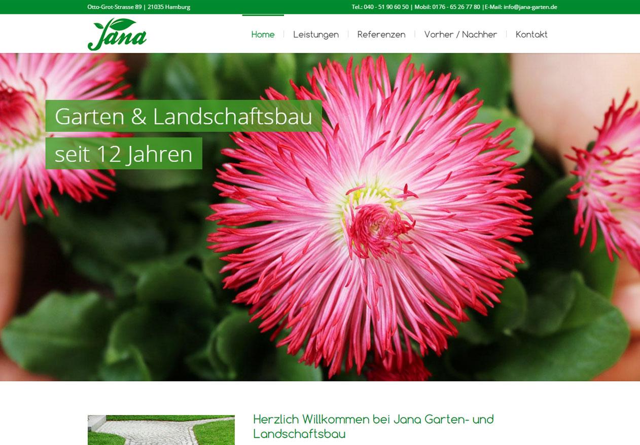 Jana Garten und Landschaftsbau – Responsive Redesign